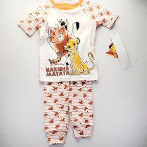 Boys Lion King Pajamas 2T or 3T NEW Hakuna Matata